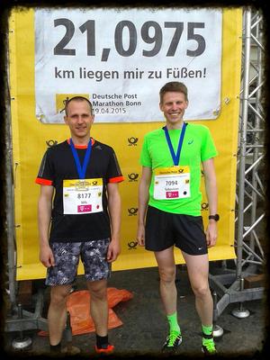 Halbmarathon Bonn - zufriedene Gesichter