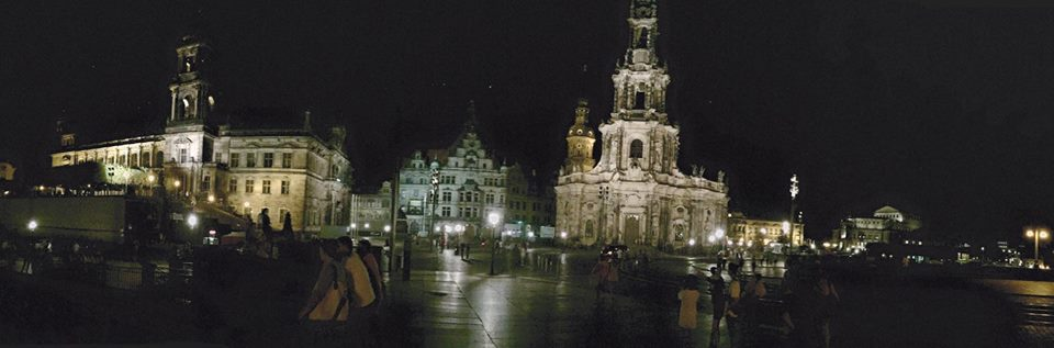 Dresden in voller nächtlicher Pracht - haberich cycling crew reiste einen Tag früher an