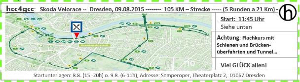 Streckenprofil des German Cycling Cup Rennens in Dresden